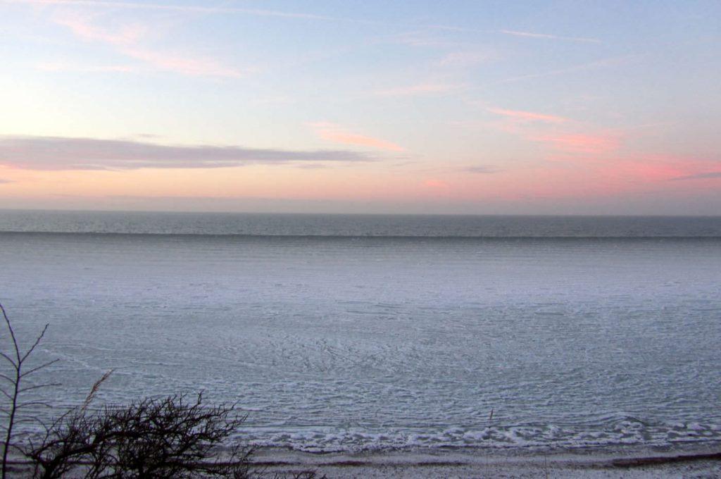 Gefrohrene Ostsee in Rerik