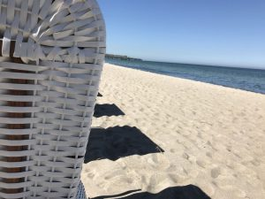 Strandkörbe am Ostseestrand in Rerik